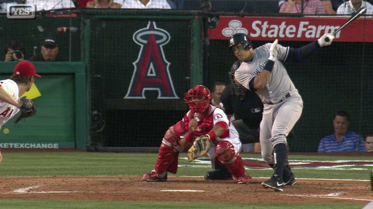 Yankees turned away by Trout, Angels