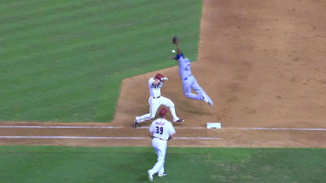 Owings reaches, Castillo scores