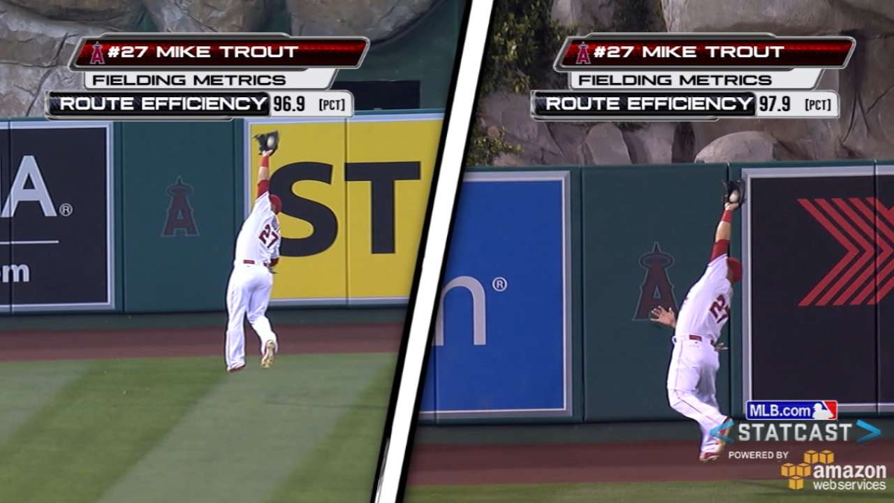 Statcast: Trout's two catches