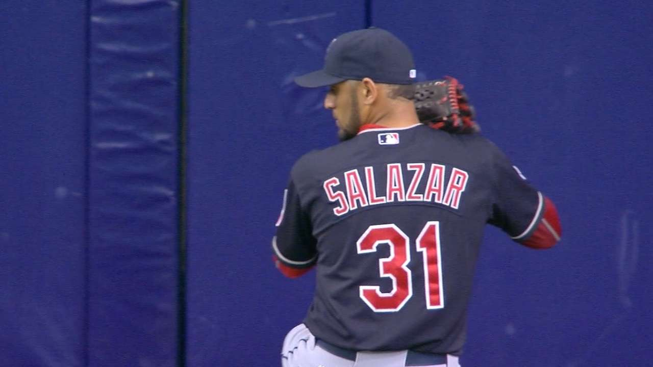 Homers back Salazar in win over Rays