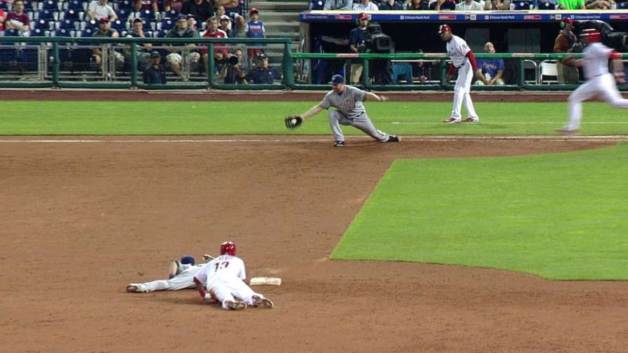 The Brewers' bases-loaded DP