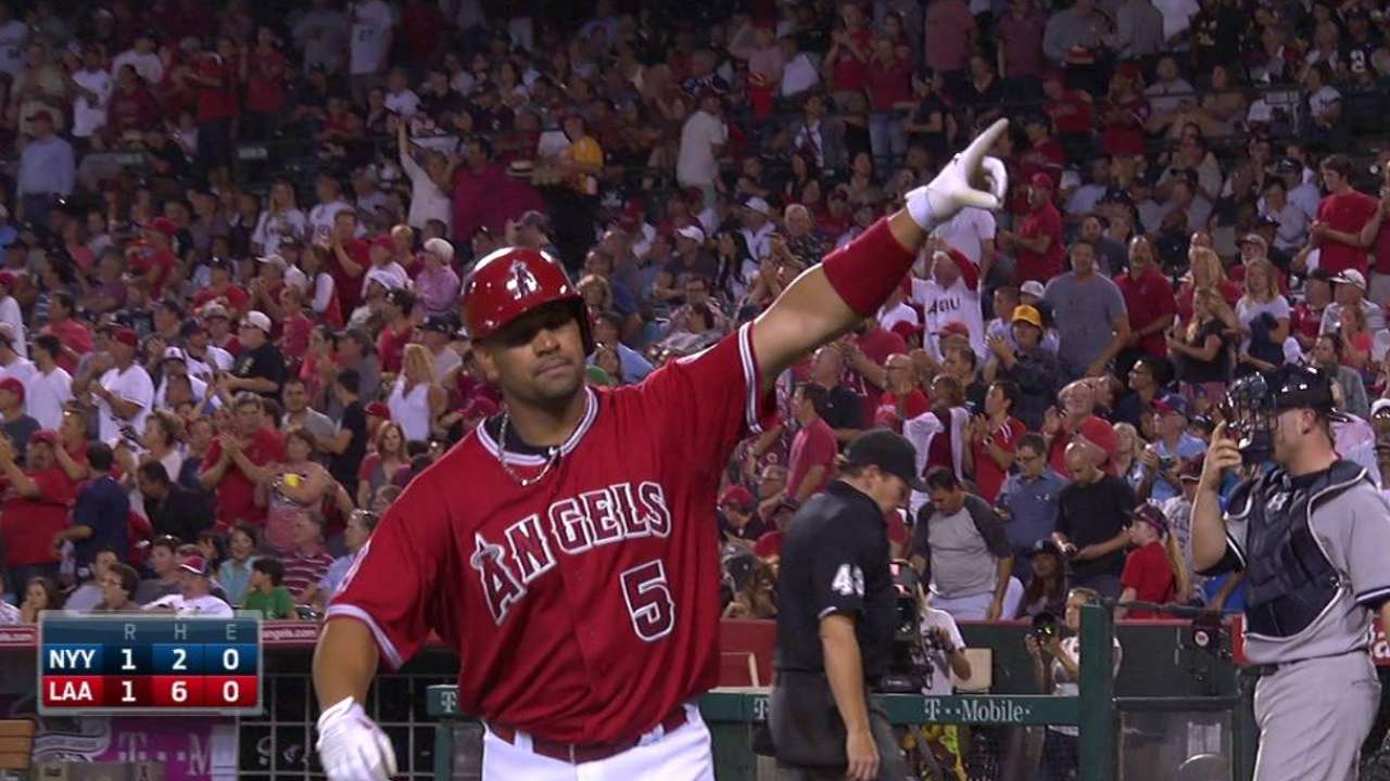 Pujols crowned AL Player of the Month