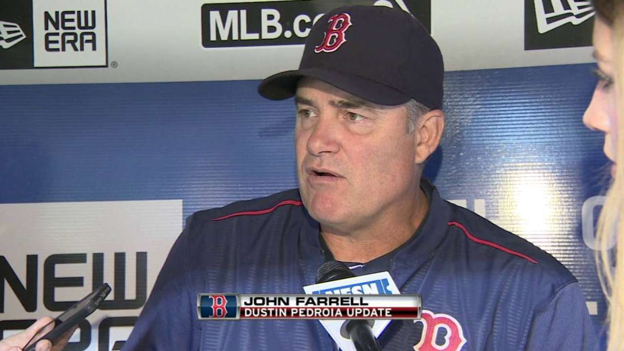 Farrell gives update on Pedroia