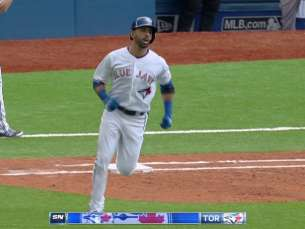BOS@TOR: Bautista breaks it open with two-run homer
