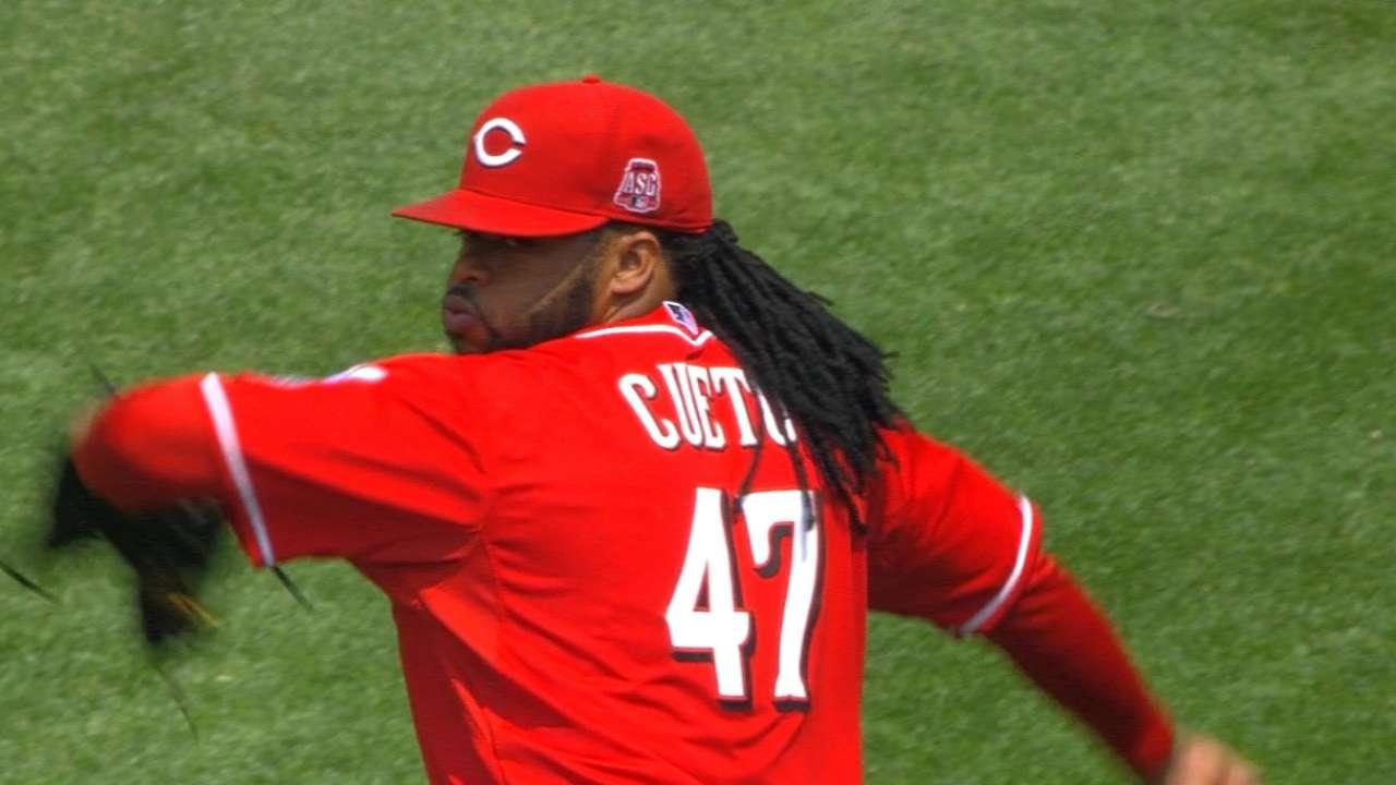 Cueto goes eight innings