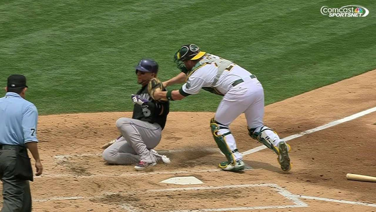 Sogard gets out at home