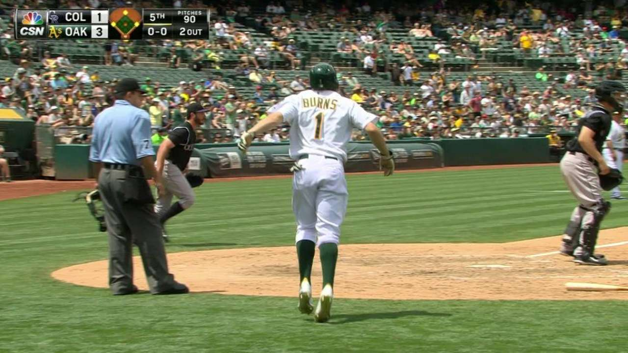 Hahn quiets Rox as A's take rubber game
