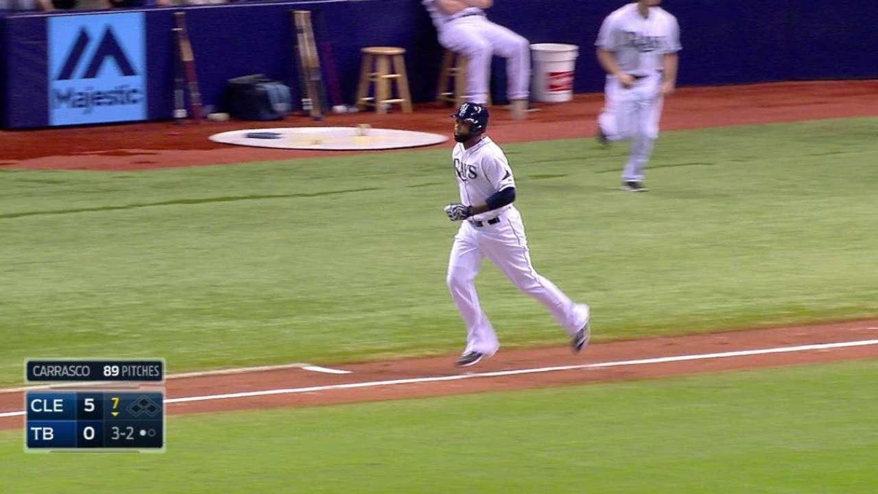 Rays get first baserunner