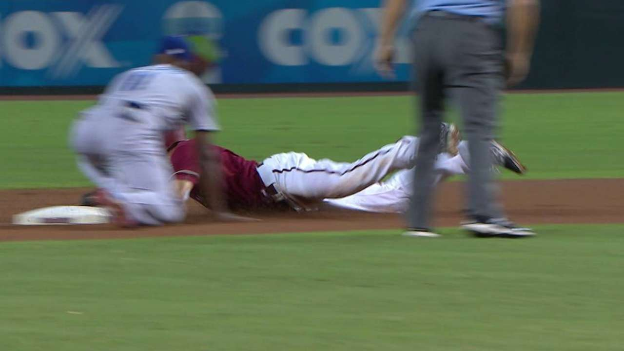 Ahmed gets bit with aggression on basepaths