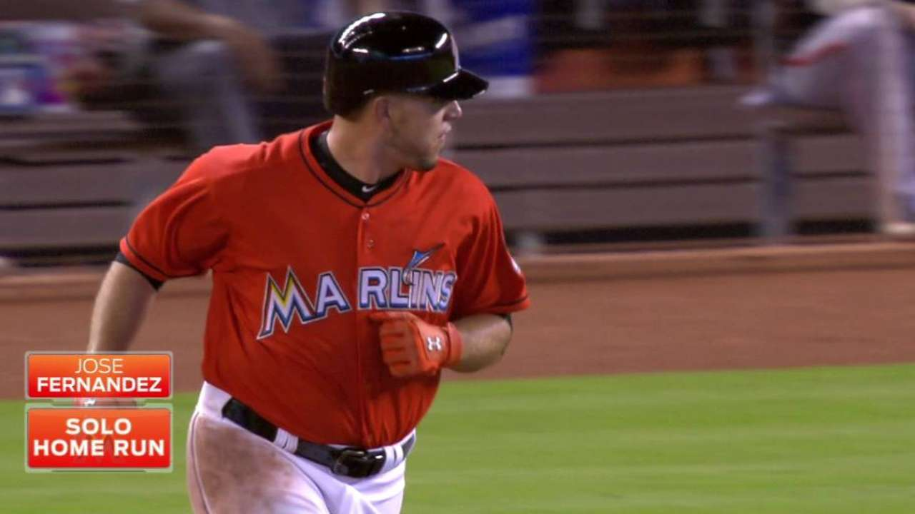 Fernandez homers in season debut