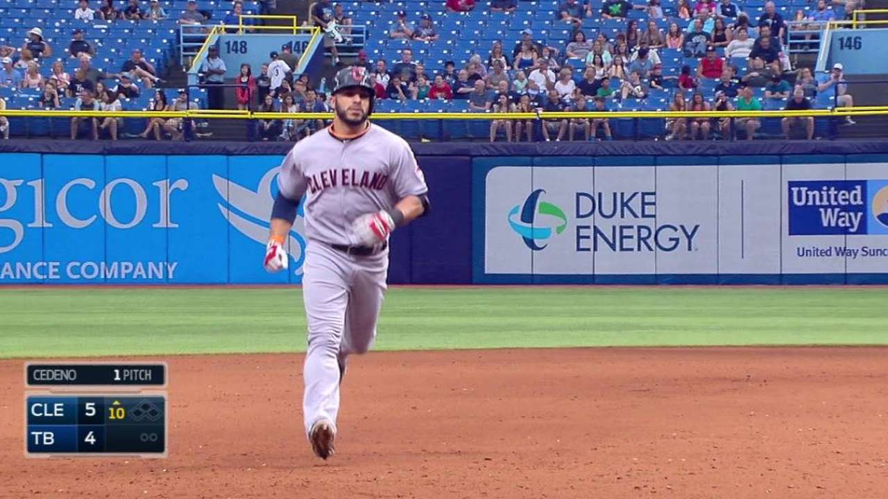 Tribe sweeps Rays on Aviles' HR in 10th