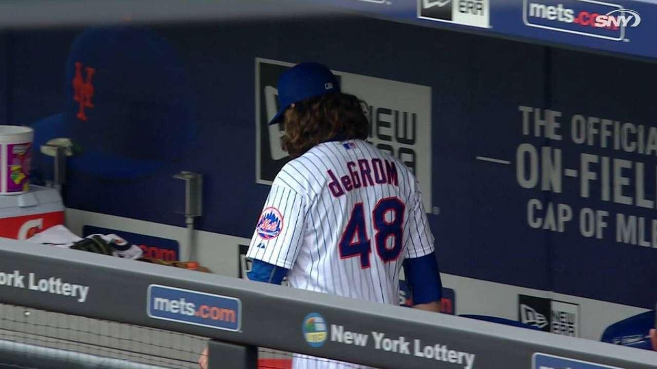Despite struggles, deGrom battles vs. Cubs