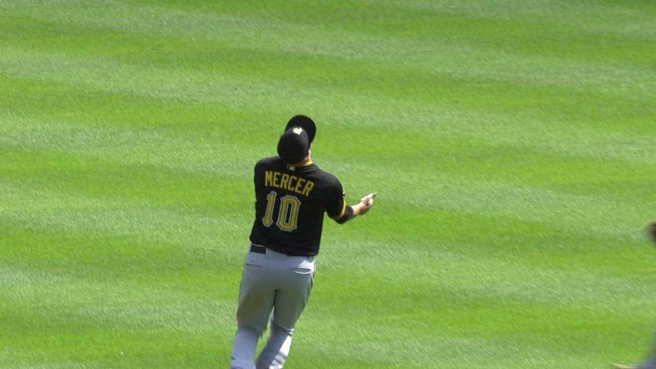 Mercer's running catch