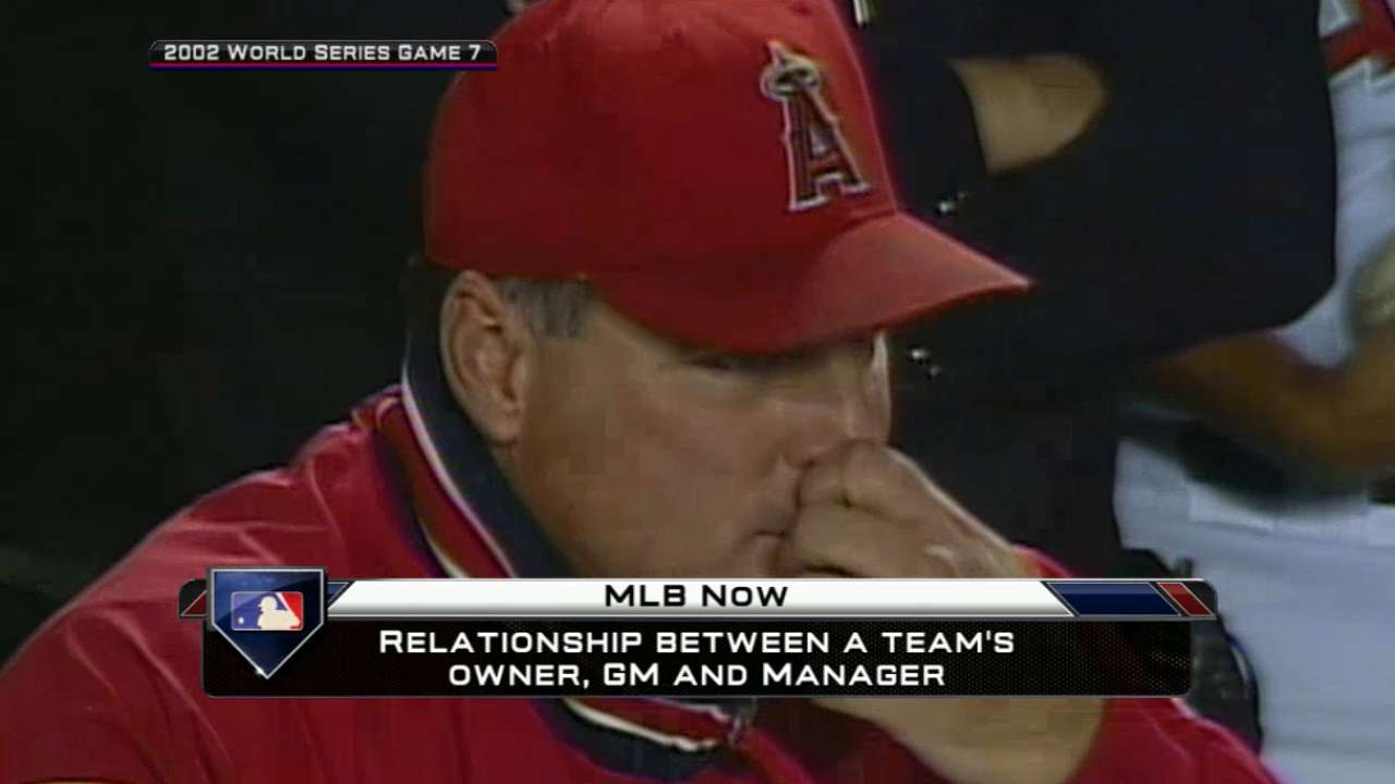 Stoneman can't believe he's back as Angels GM