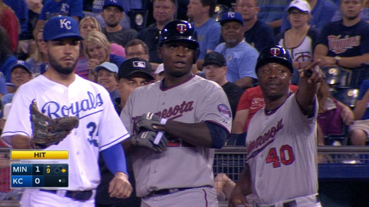 Sano collects first MLB hit