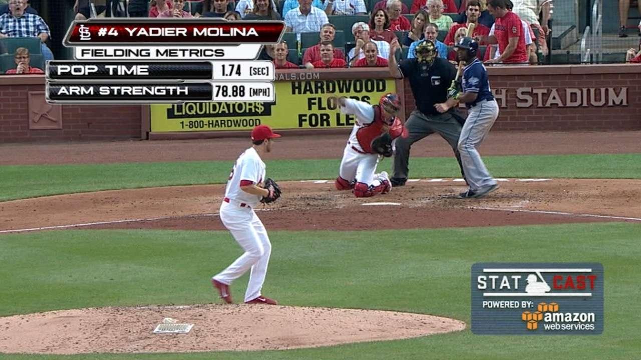 Statcast: Molina's amazing throw