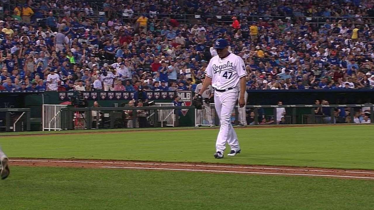 Morales strikes out Sano