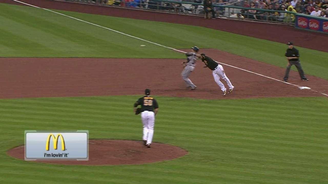 Bourn's RBI double