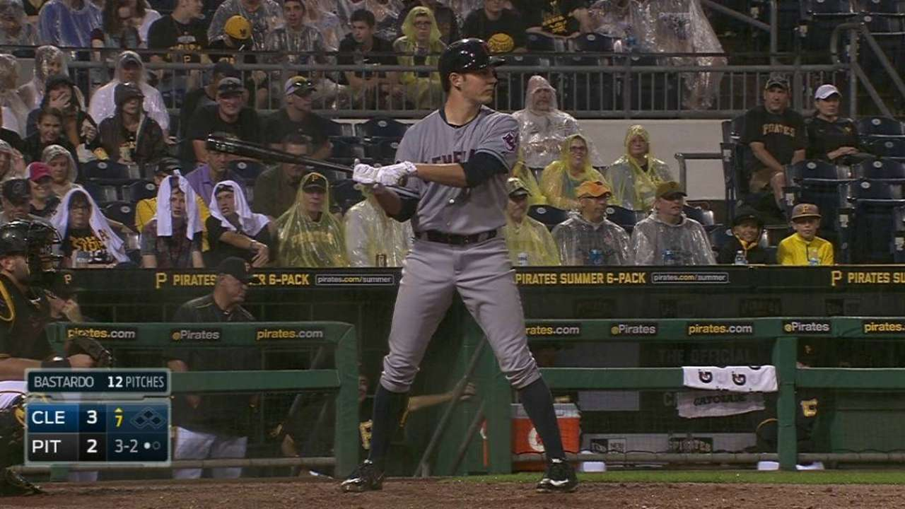 Bauer imitates batting stances