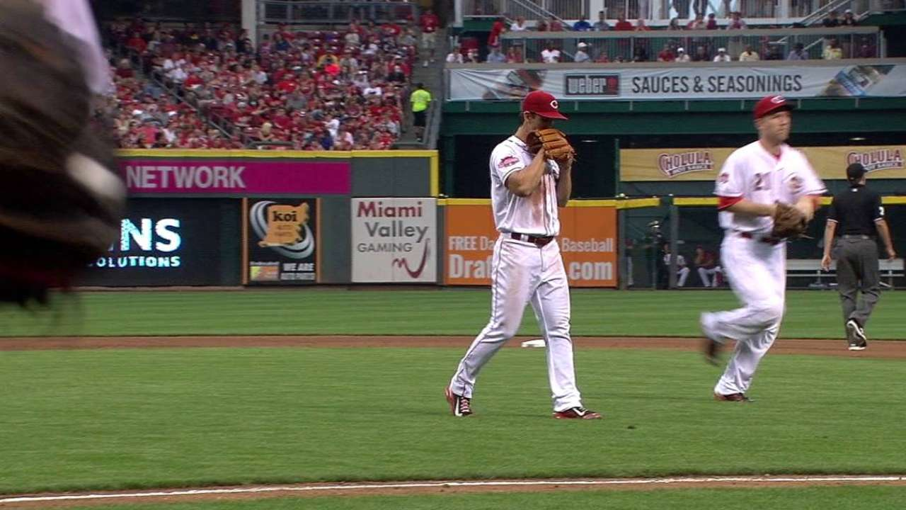 Lorenzen struggles in loss to Brewers