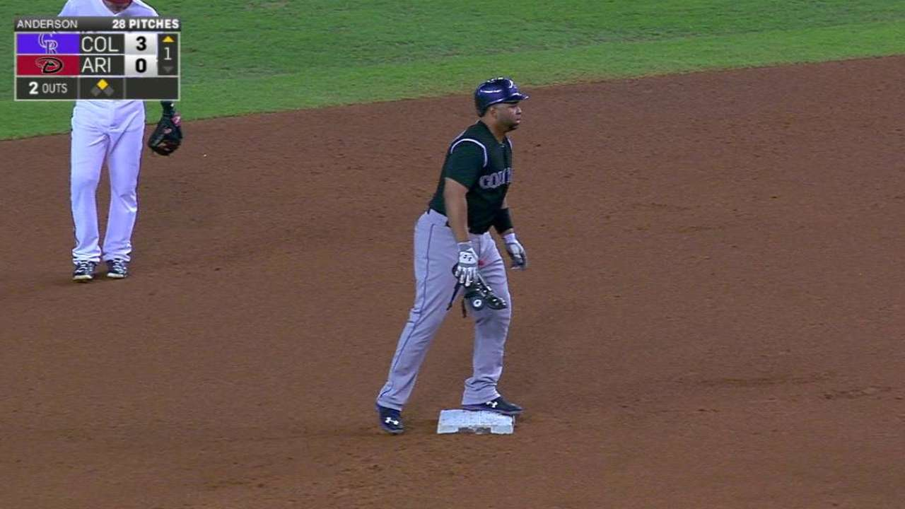 Rosario's two-run double