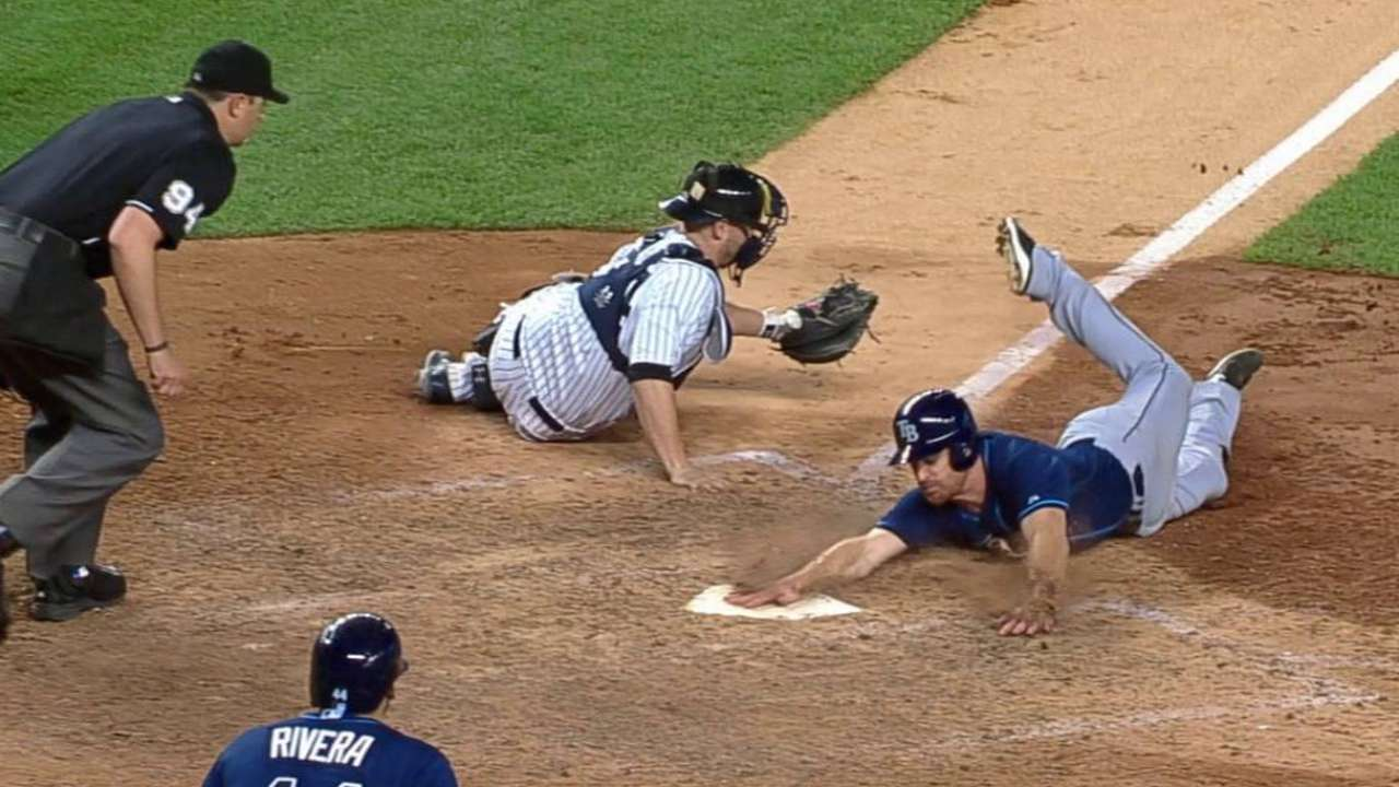 Yankees stun Rays with walk-off HR in 12th