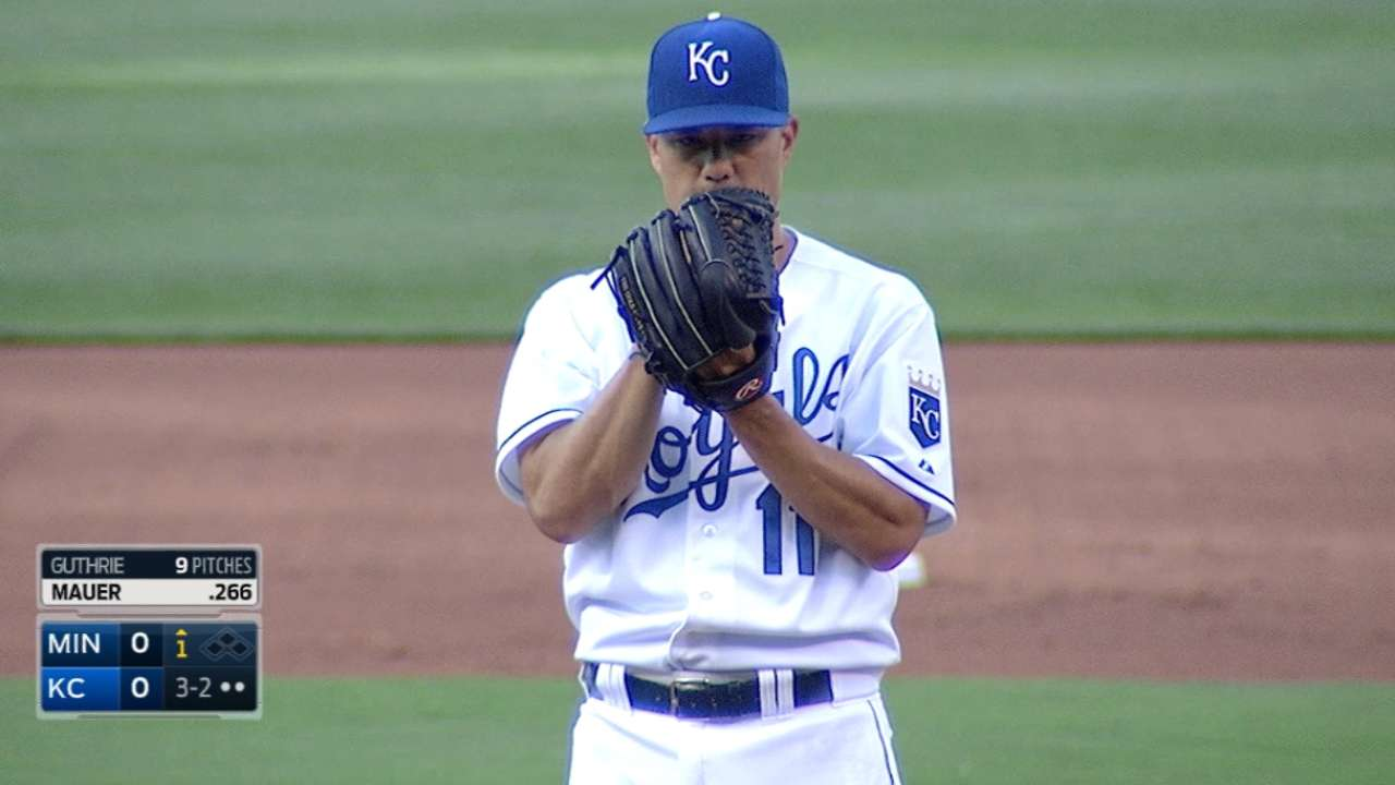 Guthrie pitches into 8th