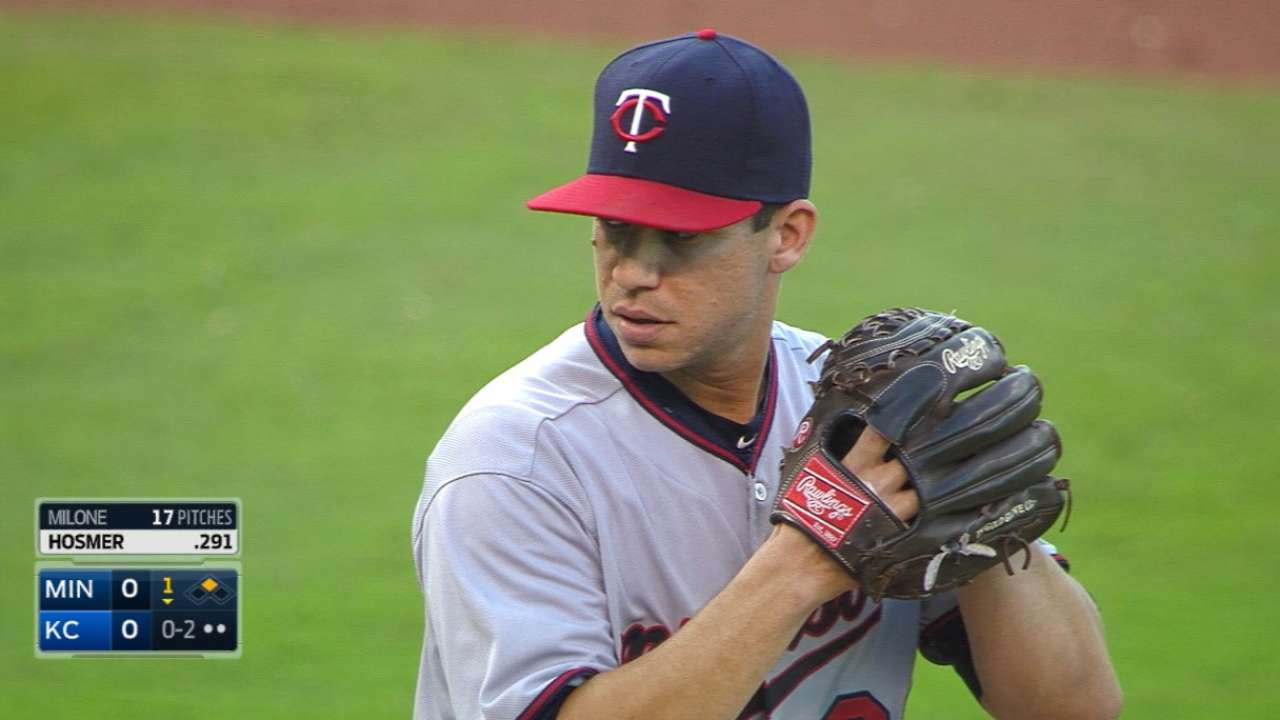 Milone keeps going strong in Twins' rotation
