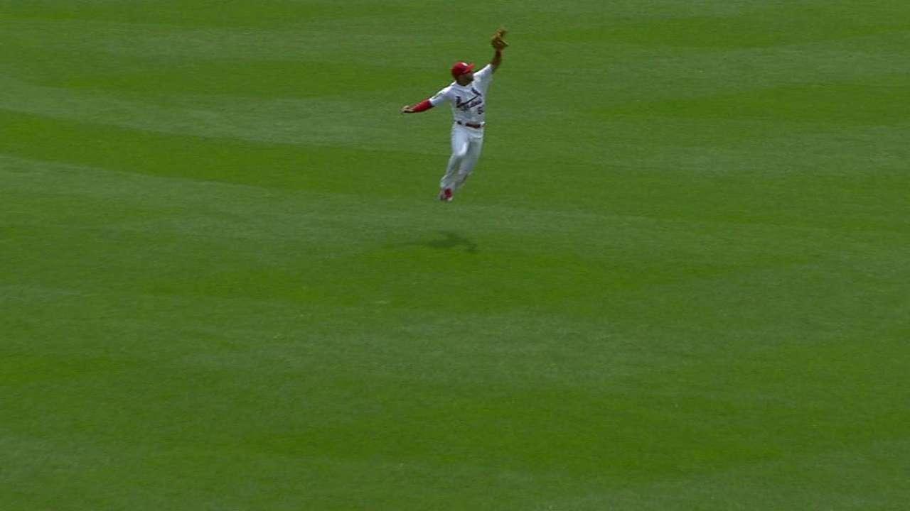 Pham's leaping catch