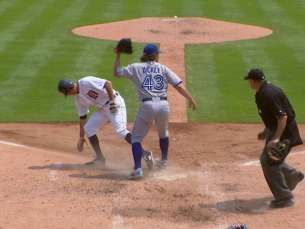 TOR@DET: Martin fields passed ball to get out at home