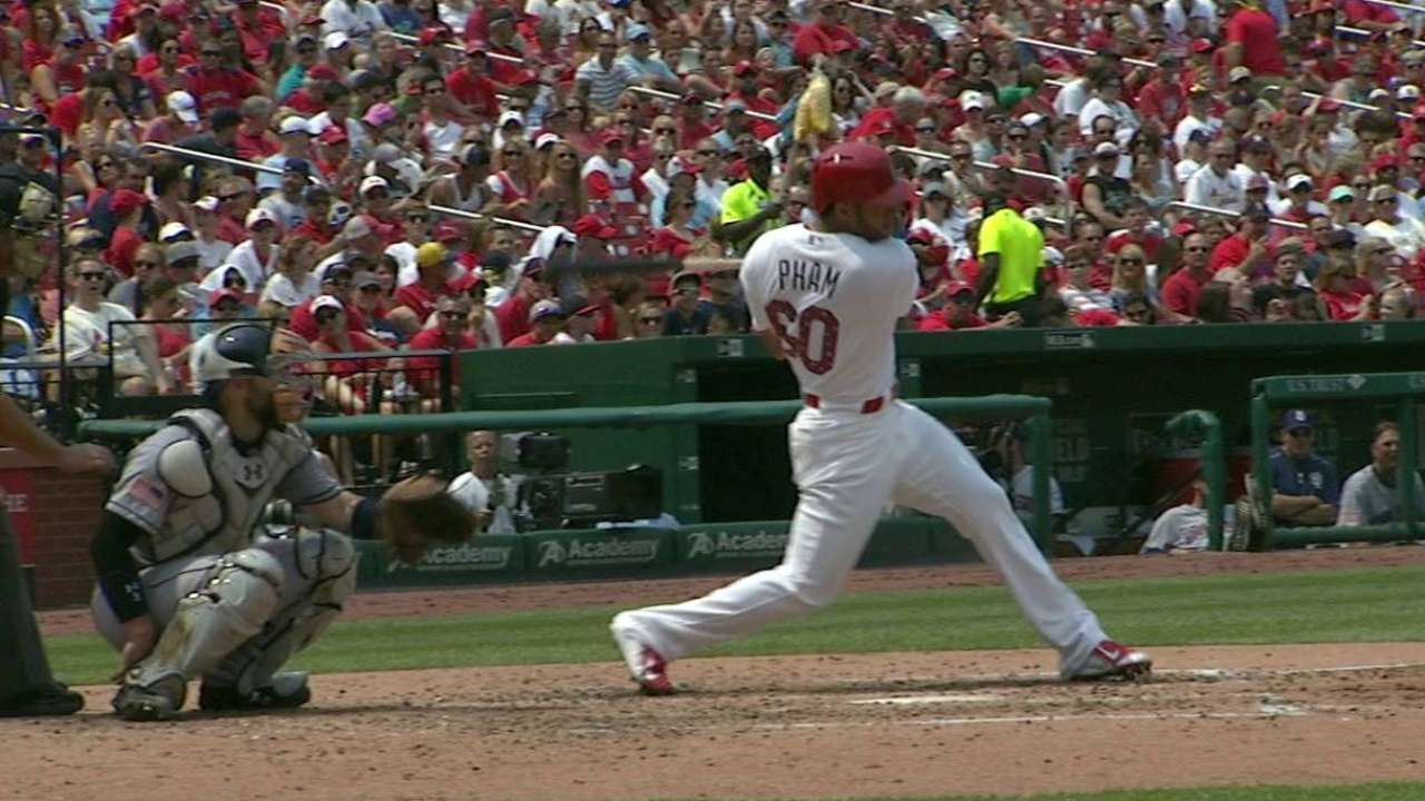 Pham's first career hit
