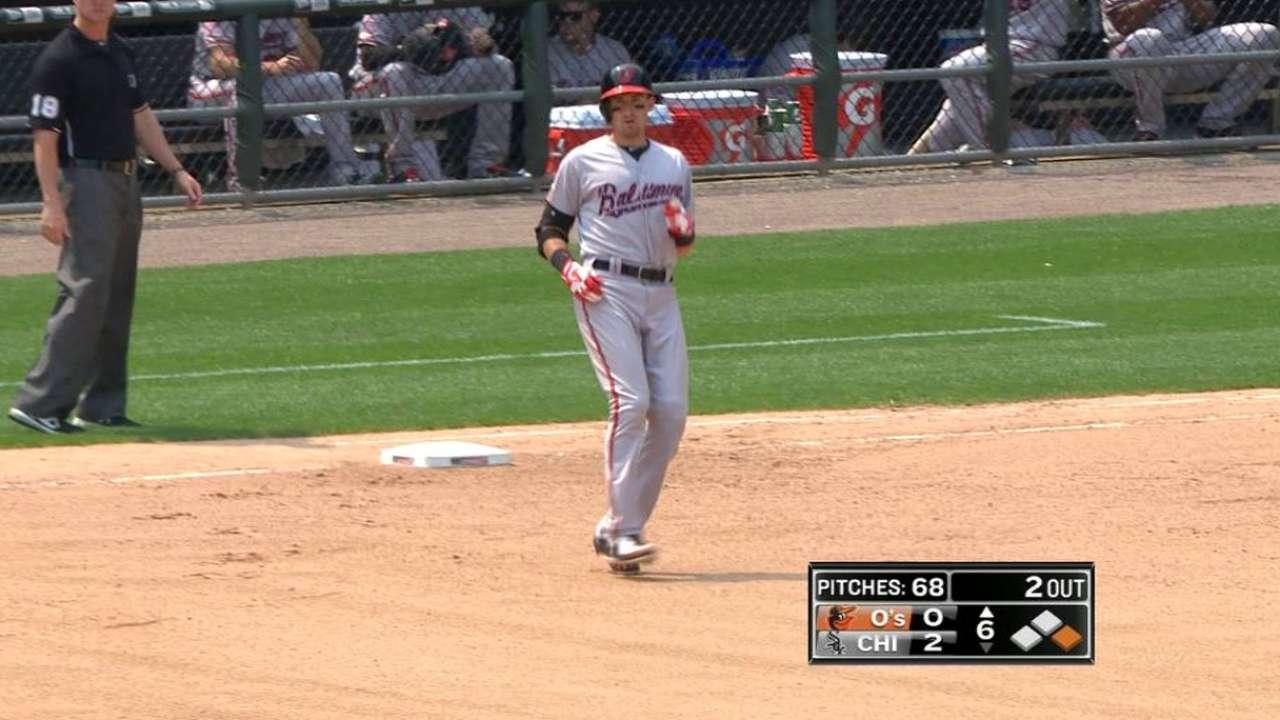 Flaherty breaks up no-hitter