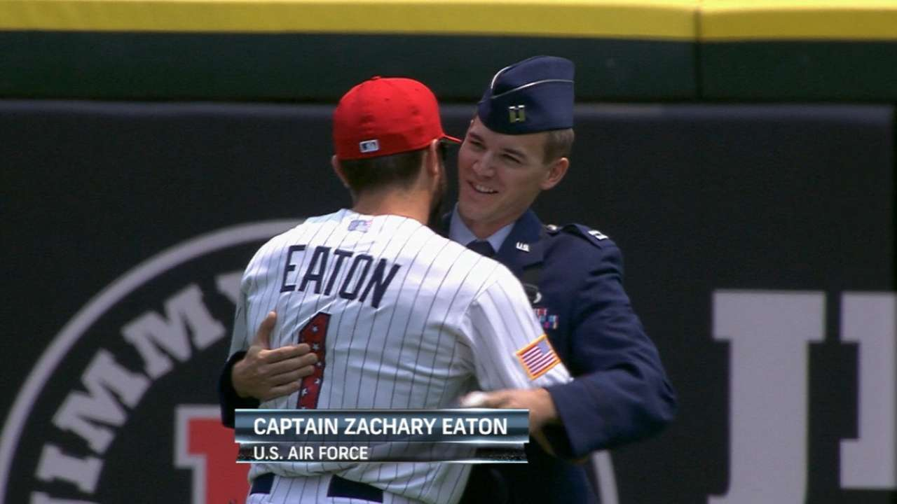 Eaton brothers share special July 4th moment