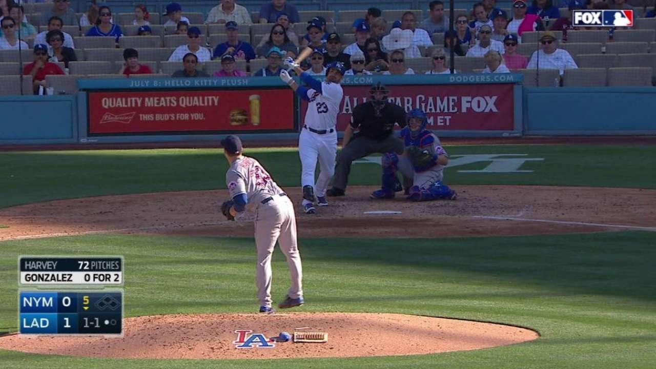 González, Greinke encabezan triunfo de Dodgers