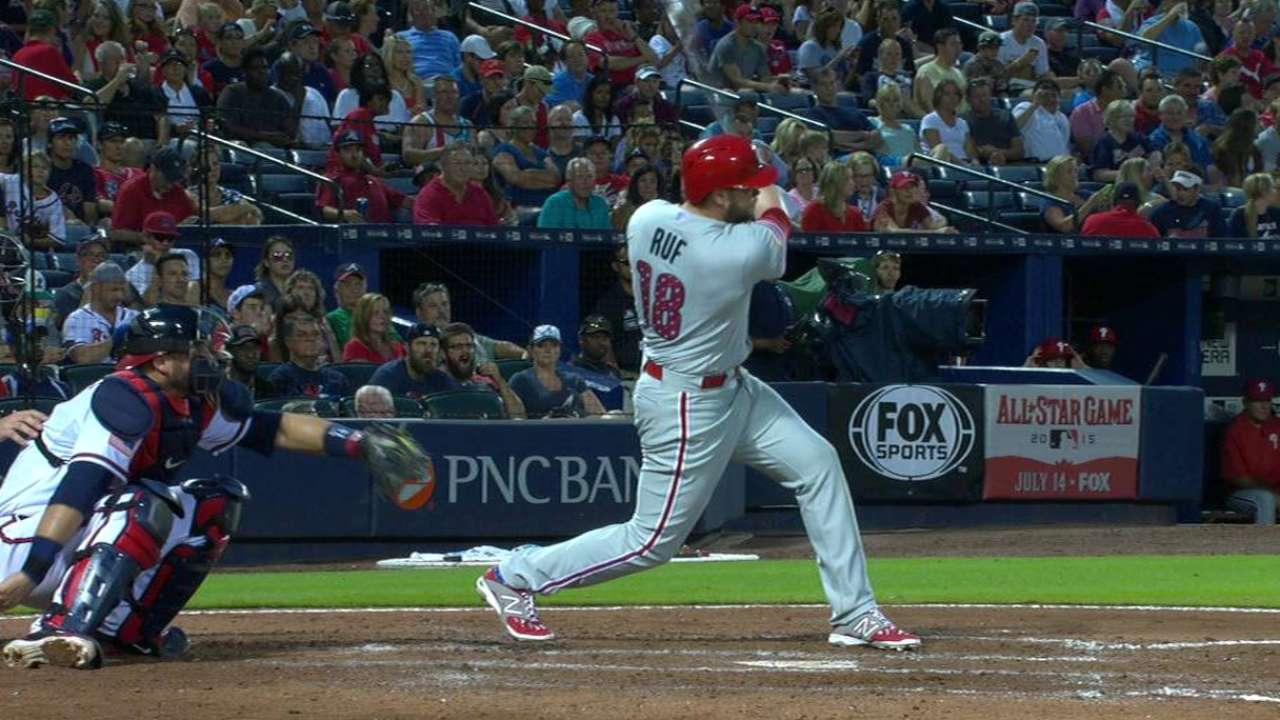 Ruf's three-run shot to left