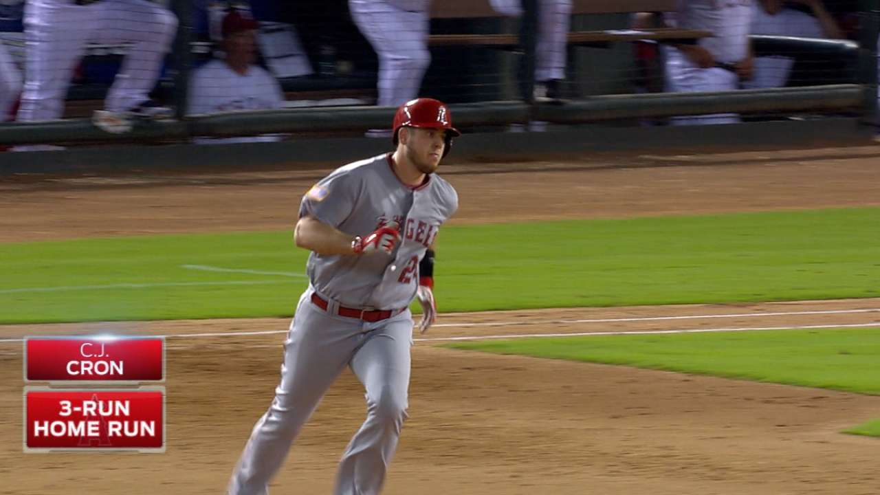 Angels' six-run inning