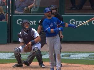TOR@DET: Bautista lines a two-run homer to left field