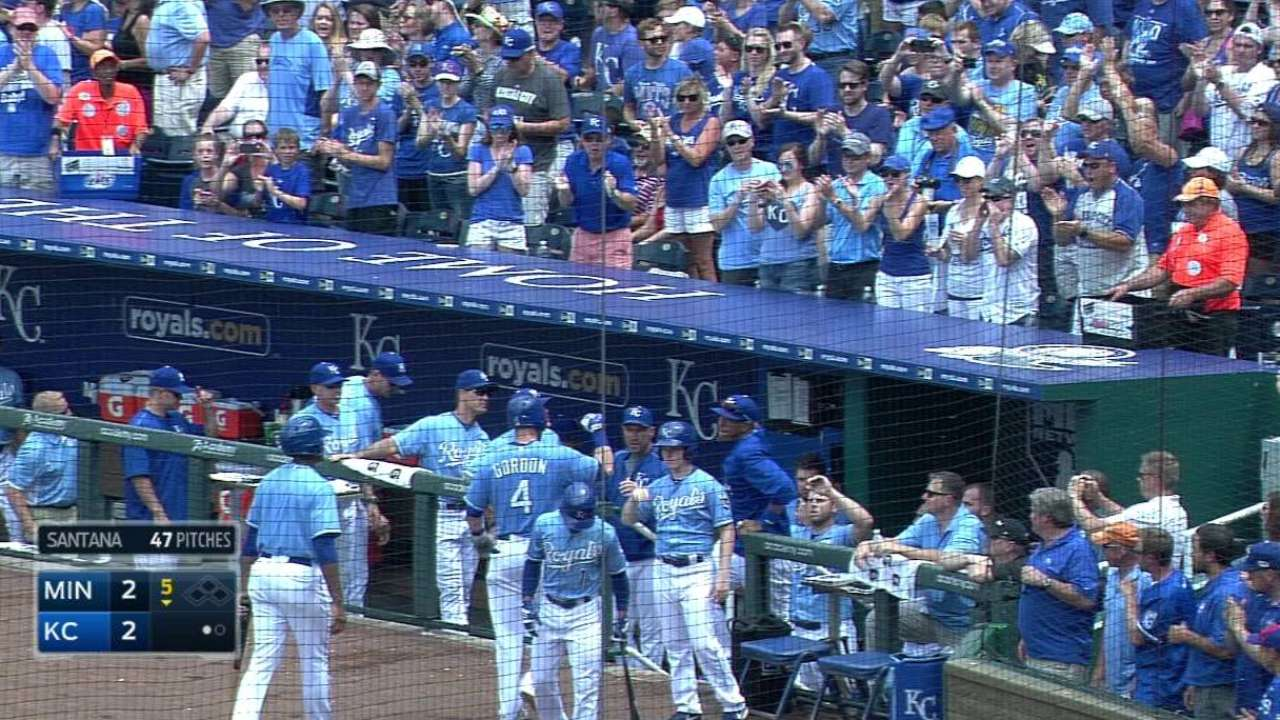 Gordon's solo home run