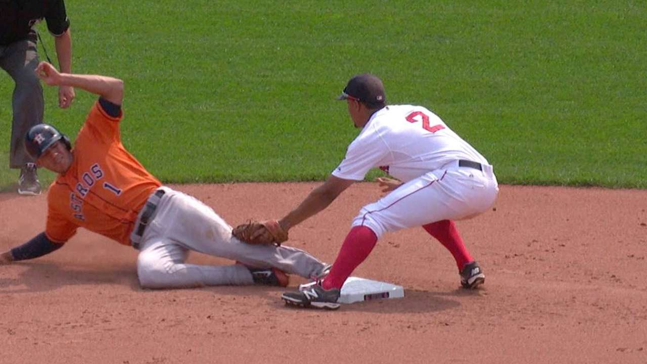 Astros challenge call at second