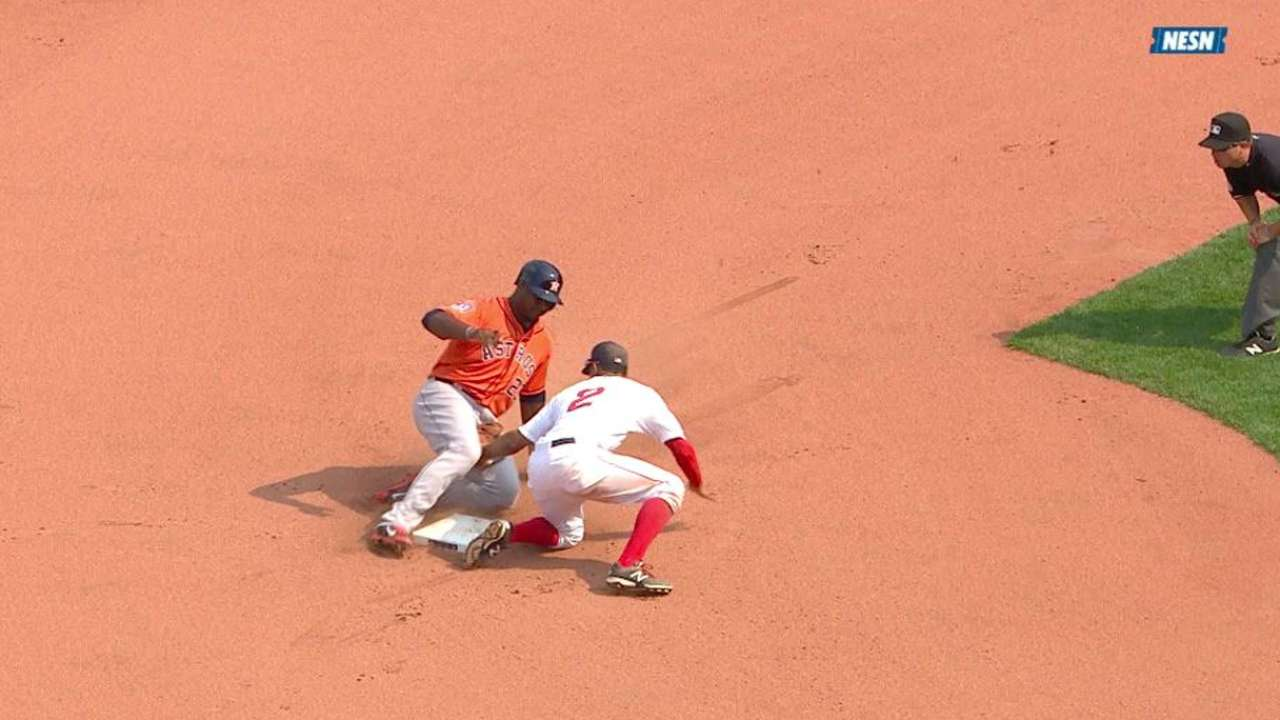 Red Sox challenge safe call