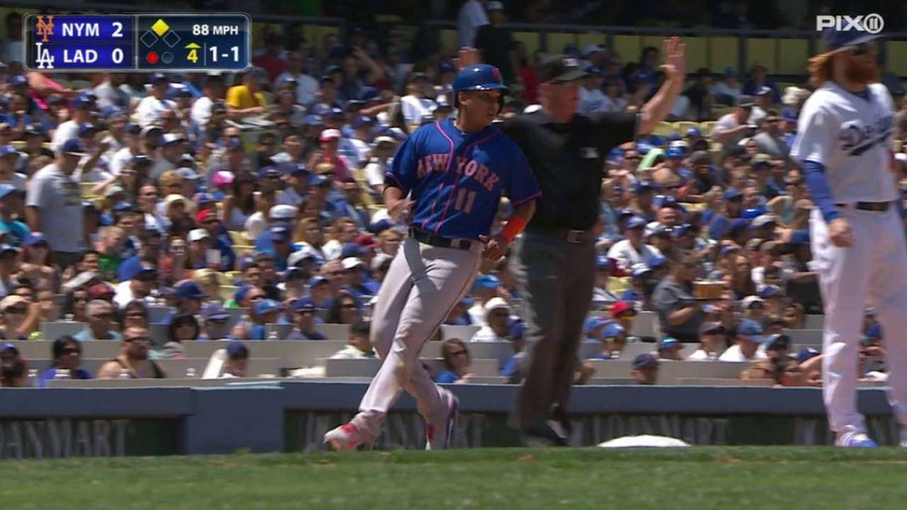 Lagares hits umpire on grounder