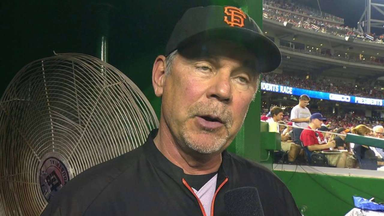Bochy on Crawford, Pence