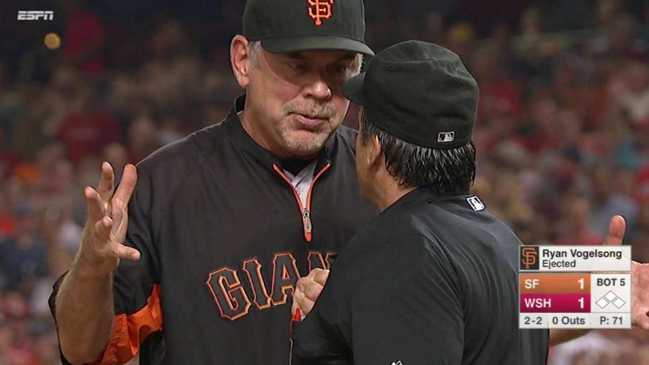 Vogelsong, Bochy ejected in 5th