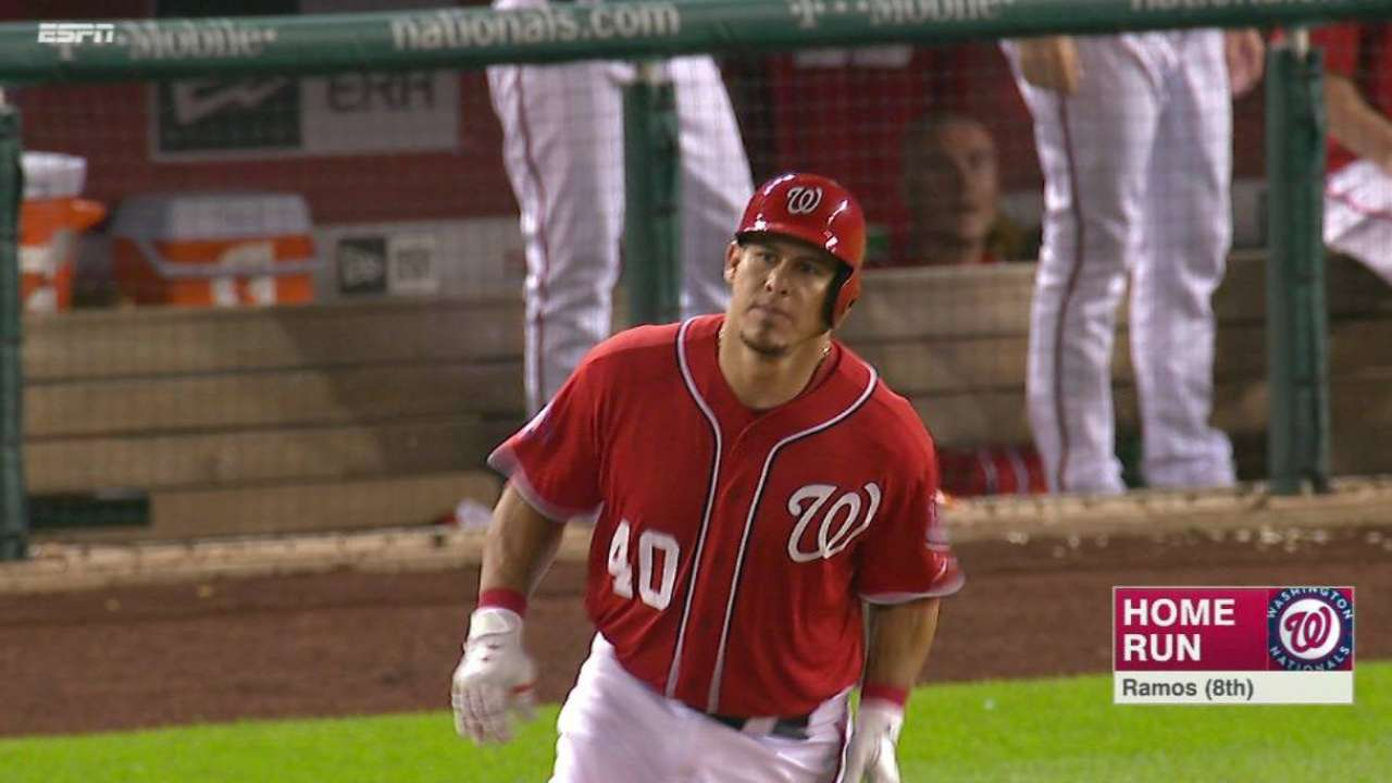 Ramos' homer sends Nats to sweep of Giants