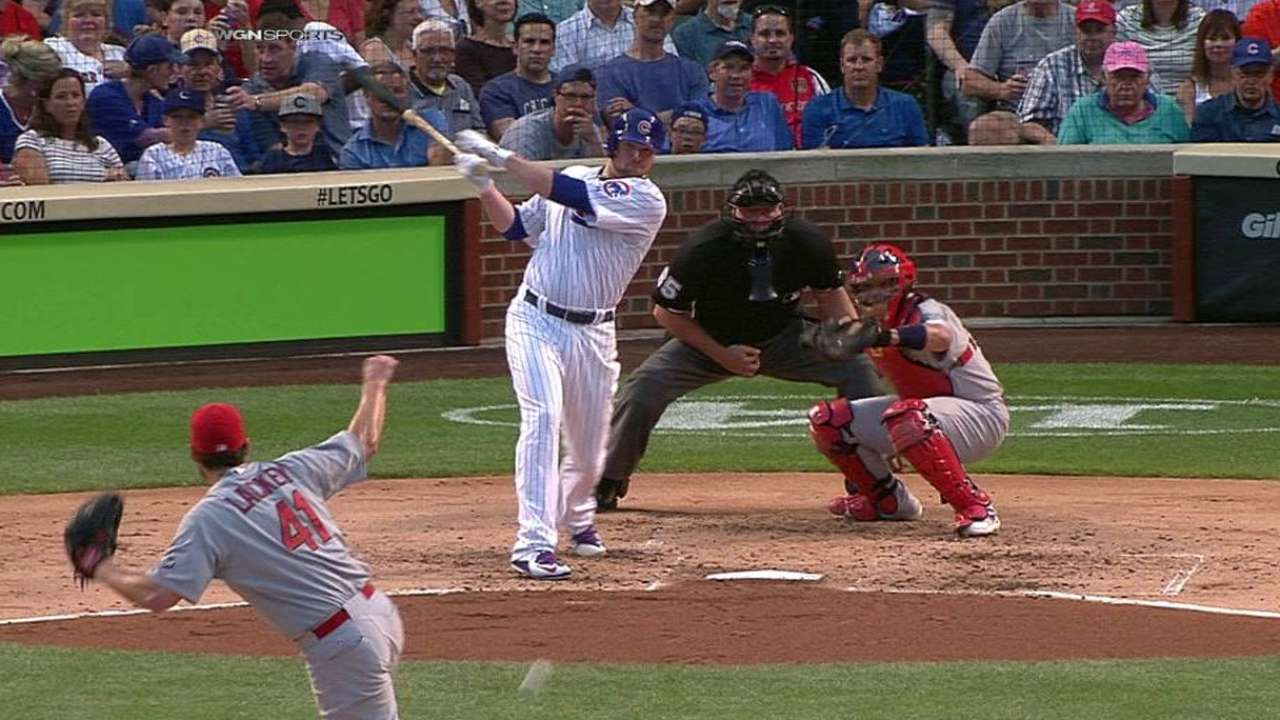 Lester's first career hit
