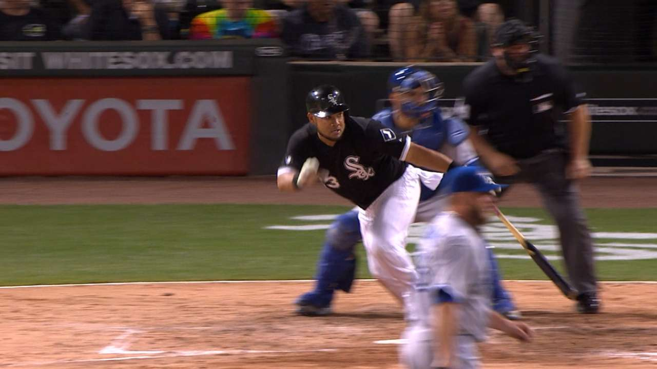 Melky's two-run double