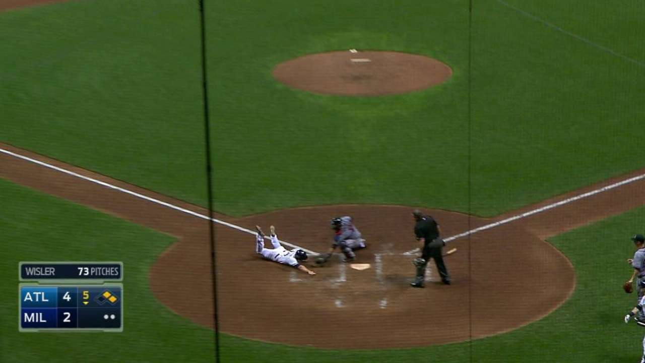 Braves get Peterson at the plate