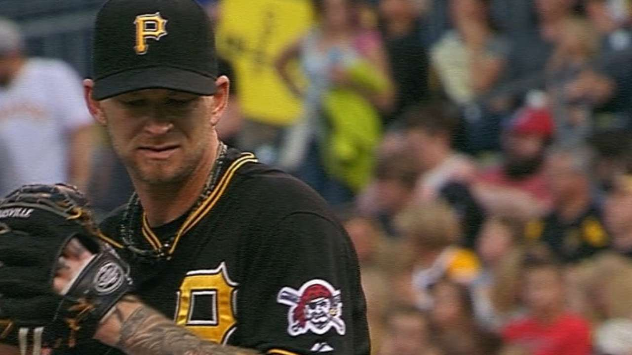 Burnett pitches into the 8th
