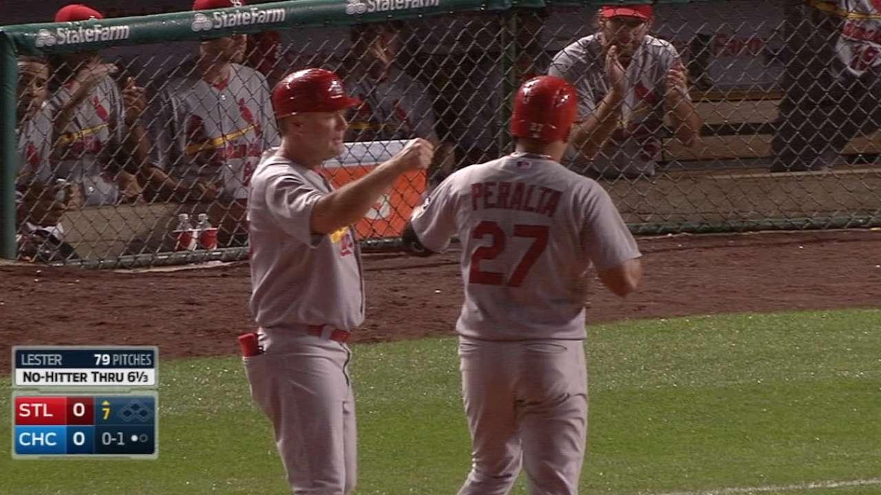 Cardinals spoil Lester's milestone night