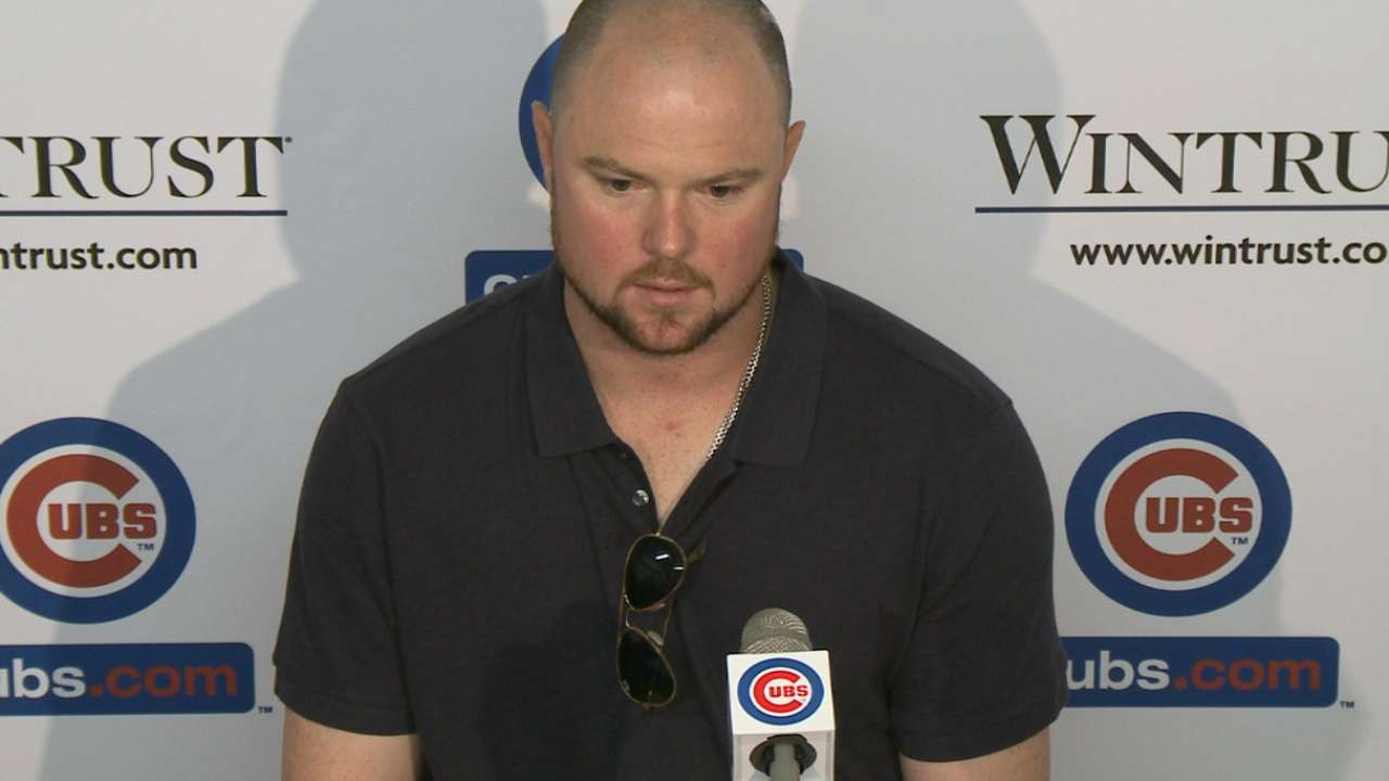 Lester on first career hit